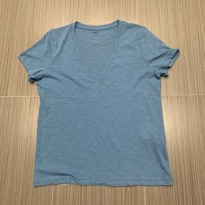 Madewell V Neck Solid Tee